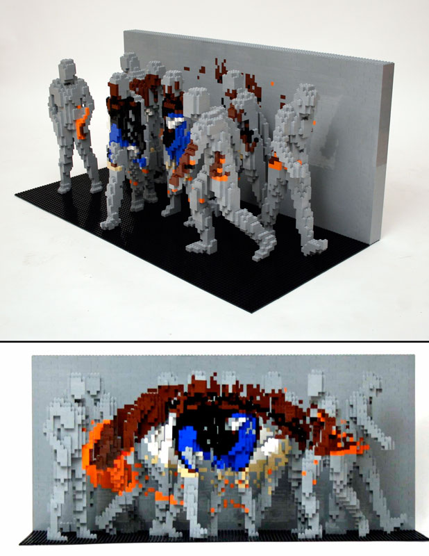 crowd The Art of the Brick: Outstanding LEGO Artworks by Nathan Sawaya