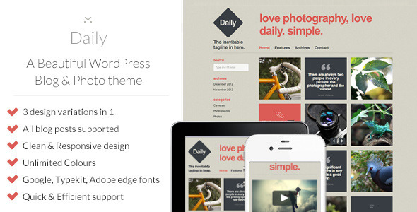 daily preview2 large preview1 25 Excellent Personal WordPress Themes