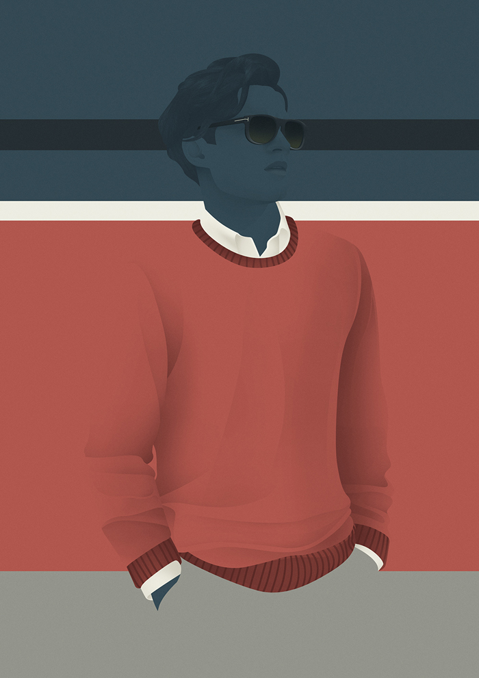dave1 Vintage Mid Century Illustrations by Jack Hughes