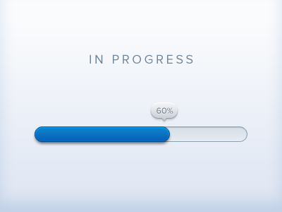 dribbble1 50 Inspiring Progress Bar Designs