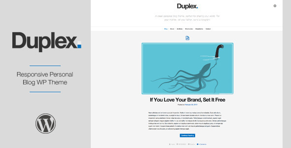 duplex preview   large preview1 25 Excellent Personal Wordpress Themes