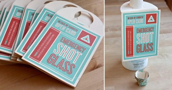 Emergency Shot Glass Card