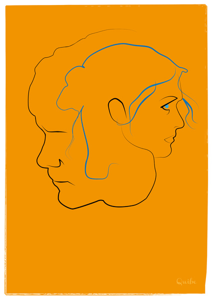 eternal sunshine of the spotless mind Minimal One Line Prints by Quibe