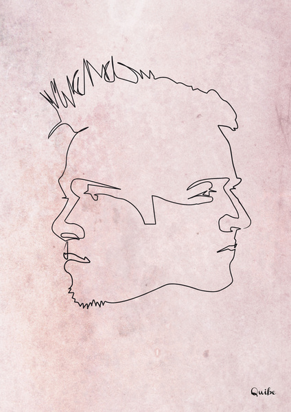 fight club Minimal One Line Prints by Quibe