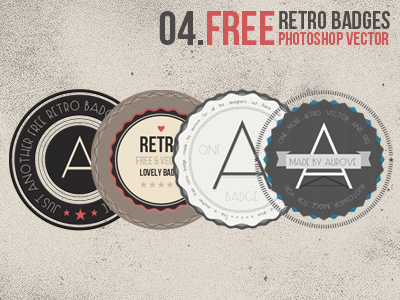 free retro badges1 45 Free Retro and Vintage Design Resources