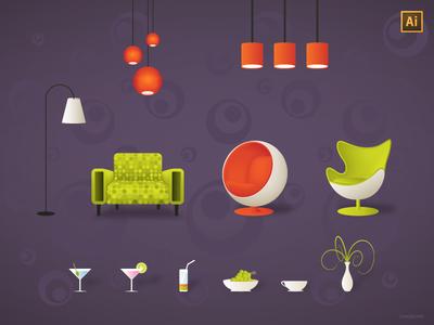 Retro Furniture by Matej Loncko