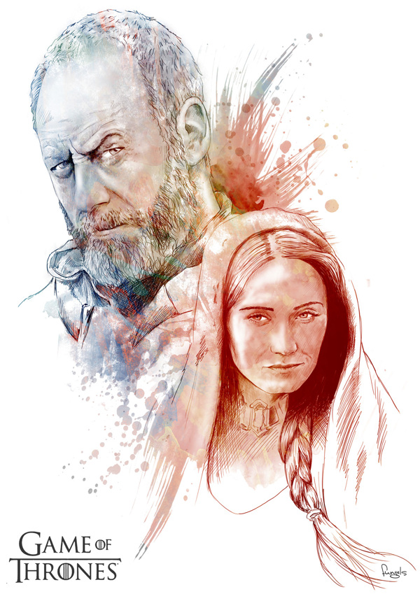 game of thrones illustrations by juan carlos andrades 4 30 Gorgeous Game of Thrones Fan Art Works