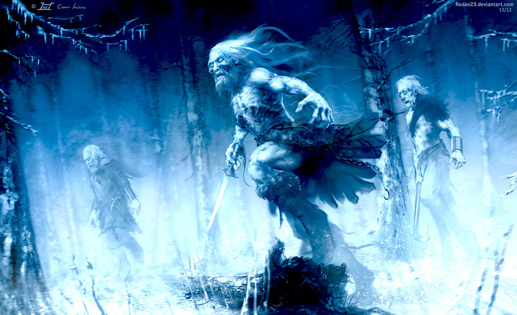 game of the thrones   white walkers by redan23 d5pshz41 30 Gorgeous Game of Thrones Fan Art Works