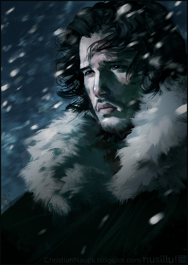 game of thrones    jon snow by manarama d48za9o1 30 Gorgeous Game of Thrones Fan Art Works