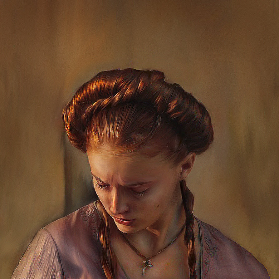 game of thrones   sansa by daaria d3kusfs1 30 Gorgeous Game of Thrones Fan Art Works