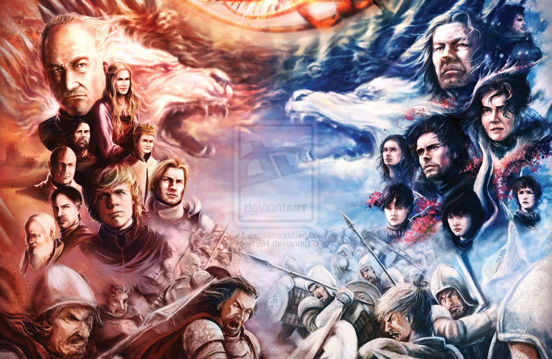 game of thrones by noei1984 d57aqqe1 30 Gorgeous Game of Thrones Fan Art Works