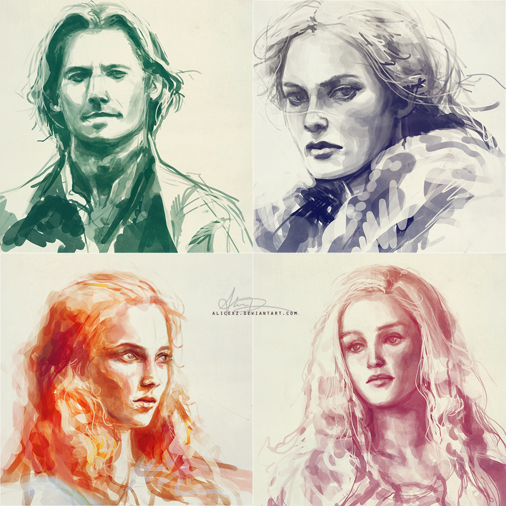 game of thrones studies by alicexz d3f9s5n1 30 Gorgeous Game of Thrones Fan Art Works