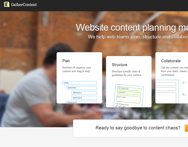gathercontent 25 Beautiful and Inspiring Websites Using Bootstrap
