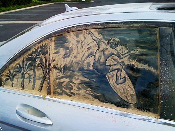 german tv film crew in carlsbad ca 20 Dirty Car Artworks by Scott Wade
