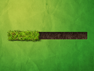 grass progress1 50 Inspiring Progress Bar Designs
