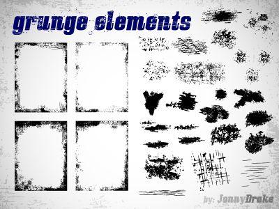Free grunge elements by Jan Ka?er