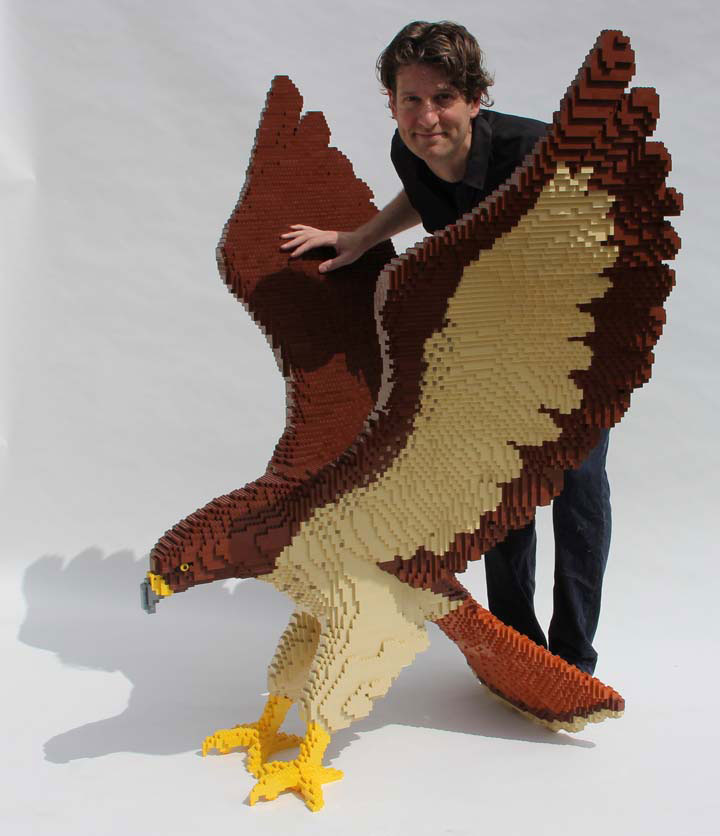 hawk 5 The Art of the Brick: Outstanding LEGO Artworks by Nathan Sawaya
