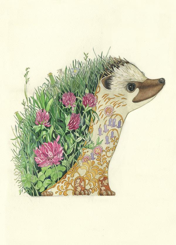 hedgehog-painting
