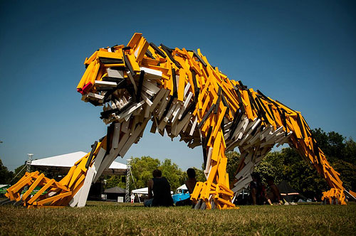 hello wood tiger 11 Trash to Treasure: 40 Creative Recycled and Repurposed Artworks