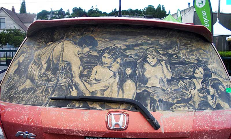 hylasnymphs1 20 Dirty Car Artworks by Scott Wade