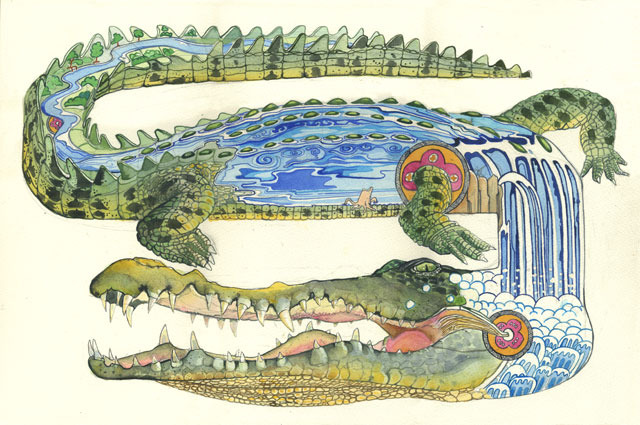 illustration-crocodile