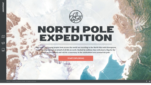 into the artic11 35 Nice Examples of Flat Web Design
