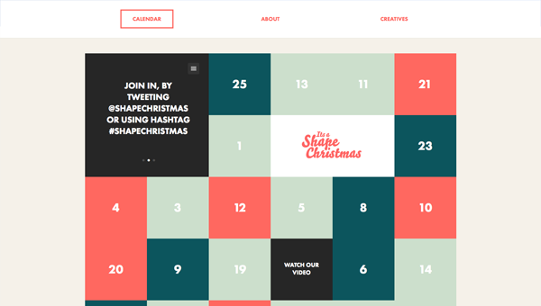 its a shape christmas1 35 Nice Examples of Flat Web Design