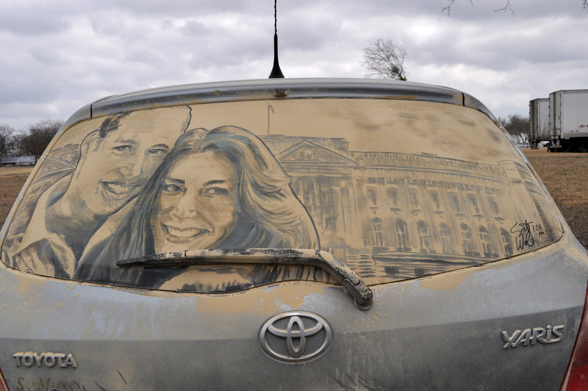 kate william 20 Dirty Car Artworks by Scott Wade