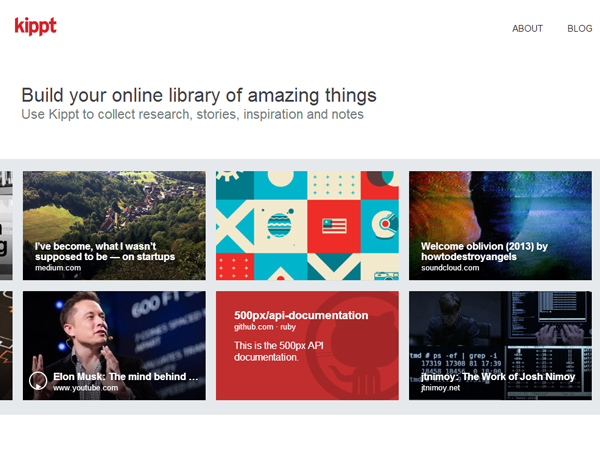 kippt 25 Beautiful and Inspiring Websites Using Bootstrap