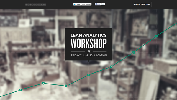 lean analytics1 35 Nice Examples of Flat Web Design