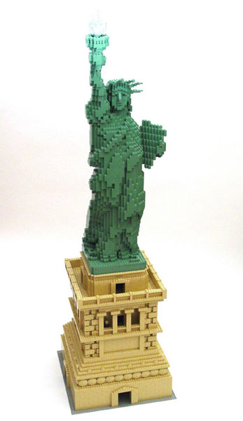 liberty pedestal 1 The Art of the Brick: Outstanding LEGO Artworks by Nathan Sawaya