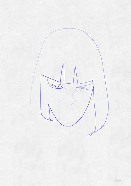 mia wallace Minimal One Line Prints by Quibe