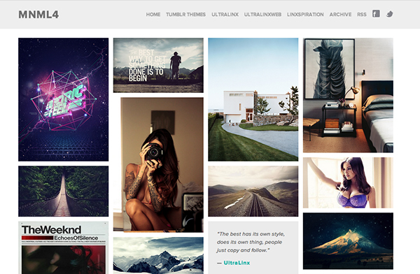 mnml4 45 Free Grid Based Tumblr Themes