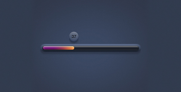 Modern clean progress bar by Vova Devyatkin