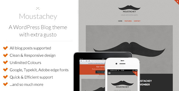 moustachey preview large preview1 25 Excellent Personal WordPress Themes
