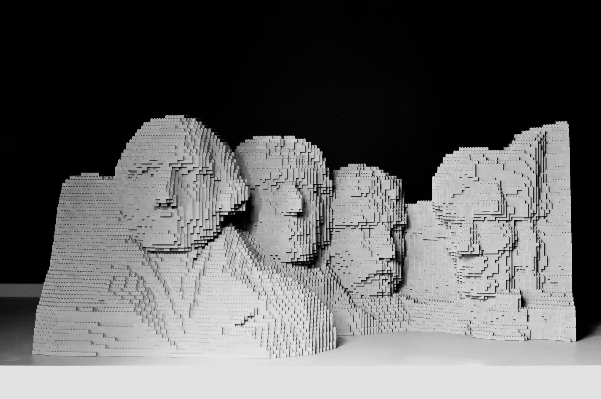 mt rushmore The Art of the Brick: Outstanding LEGO Artworks by Nathan Sawaya
