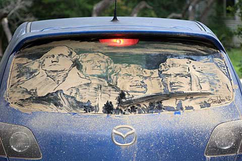 mt rushmore1 20 Dirty Car Artworks by Scott Wade