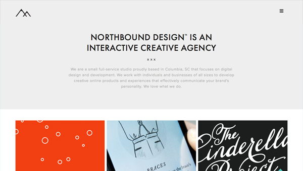northbound design1 35 Nice Examples of Flat Web Design