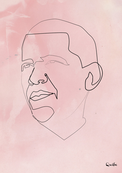 obama Minimal One Line Prints by Quibe