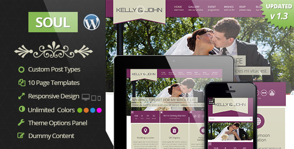 preview   large preview1 Top 15 Premium Wordpress Themes for a Wedding