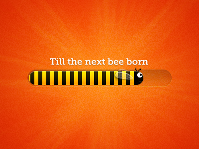Bee progress bar by Andrew Ckor