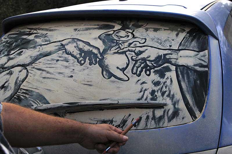 rapture21 20 Dirty Car Artworks by Scott Wade