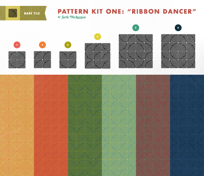 ribbon pattern preview21 45 Free Retro and Vintage Design Resources