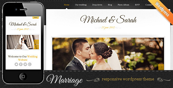 screenshot1   large preview1 Top 15 Premium Wordpress Themes for a Wedding