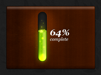 Toxic progress bar 3D by Alex Patrascu