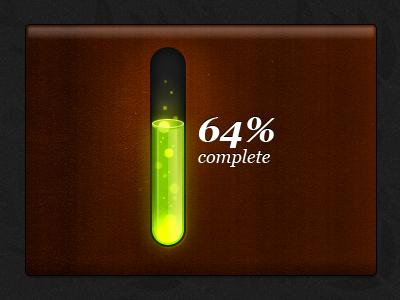 Toxic progress bar 3D by Alex Patrascu