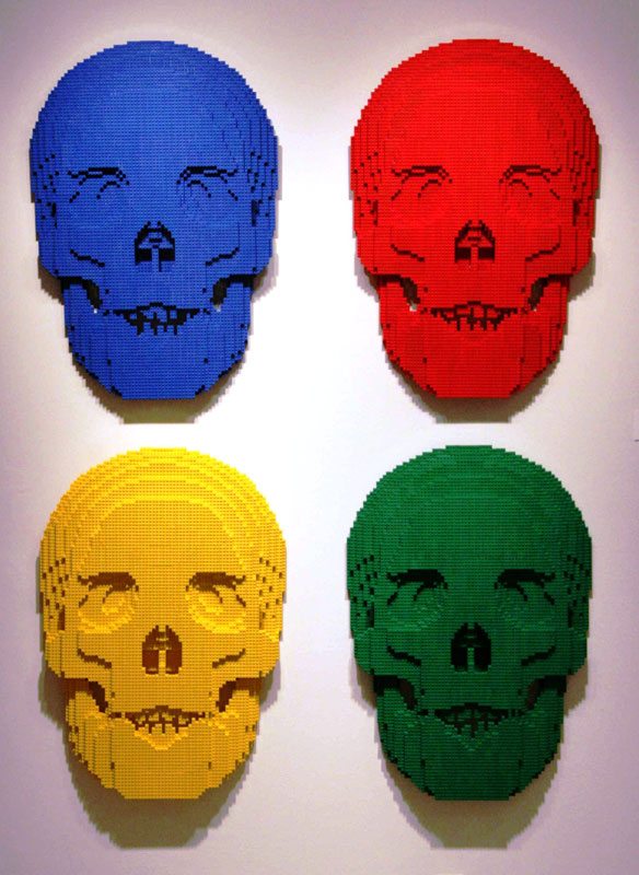 skulls The Art of the Brick: Outstanding LEGO Artworks by Nathan Sawaya