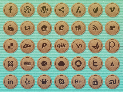 social icons by graphcoder1 45 Free Retro and Vintage Design Resources