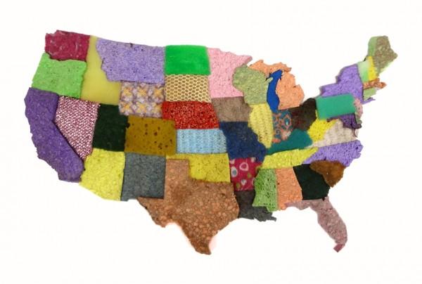 Used Sponge U.S.A. Map