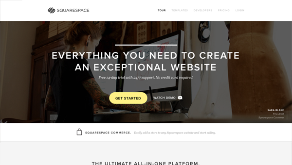 squarespace1 35 Nice Examples of Flat Web Design